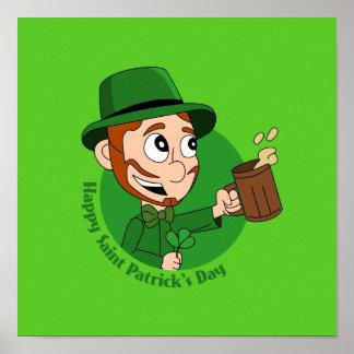 Glücklichen St Patrick TagesCartoon Poster