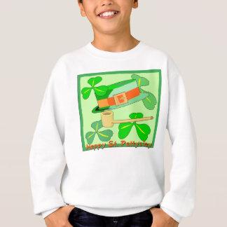 Glücklichen St Patrick Tagescollage Sweatshirt