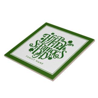 Glücklichen St Patrick Tageseleganter Keramikfliese