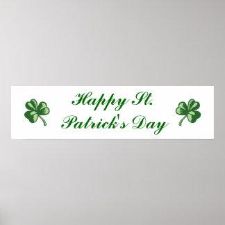 Glücklichen St Patrick Tagesfahne Poster