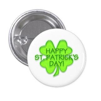 Glücklichen St Patrick Tagesgrün-Kleeblatt-Button