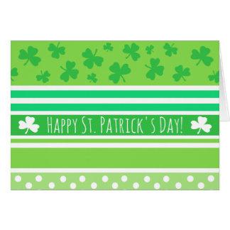 Glücklichen St Patrick Tagesgrün-Streifen Karte