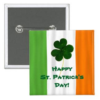 Glücklichen St Patrick Tagesirischer Quadratischer Button 5,1 Cm