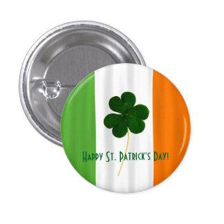 Glücklichen St Patrick Tagesirischer Runder Button 3,2 Cm