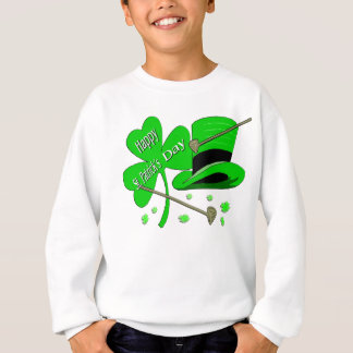 Glücklichen St Patrick TagesKleeblatt Sweatshirt