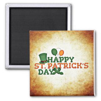 Glücklichen St Patrick Tagesmagnet Quadratischer Magnet