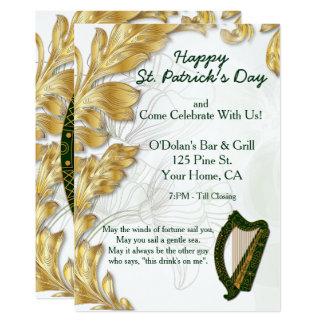 Glücklichen St Patrick TagesParty laden ein Karte