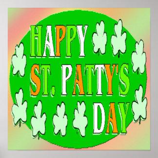 Glücklichen St Patrick Tagesplakat Poster