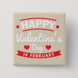 Glücklichen Valentinsgrußes am 14. Februar Quadratischer Button 5,1 Cm