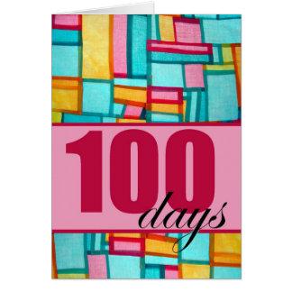 Glücklicher 100. Tag, koreanischer Geburtstag Karte