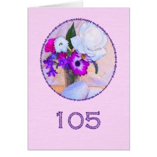Glücklicher 105. Geburtstag mit einer Karte