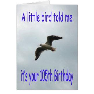 Glücklicher 105. Geburtstags-Fliegen-Seemöwevogel Karte