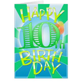 Glücklicher 10. Geburtstag Grußkarte