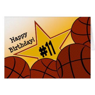 Glücklicher 11. Geburtstag, Basketball - Star! Karte