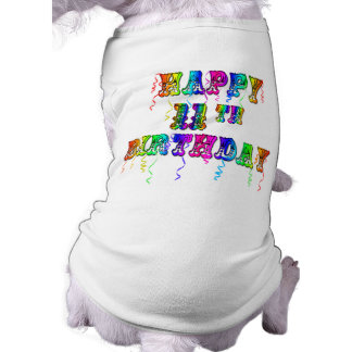 Glücklicher 11 Geburtstags-Ballon-Hundeshirt