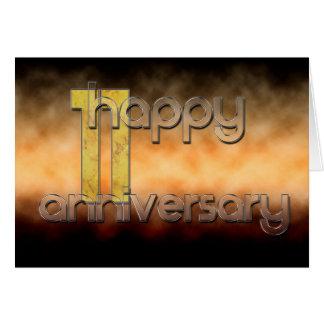 Glücklicher 11. Jahrestag (Hochzeitstag) Karte
