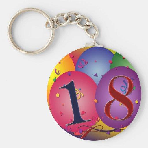 Glücklicher 18. Geburtstag! Schlüsselanhänger
