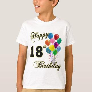 Glücklicher 18. Geburtstags-T - Shirt mit Ballonen