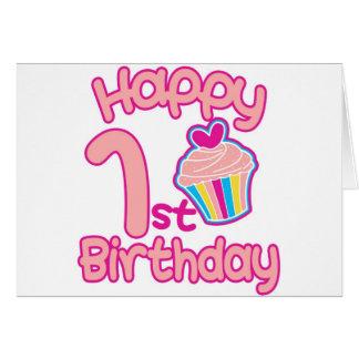 Glücklicher 1. Geburtstag! Grußkarte