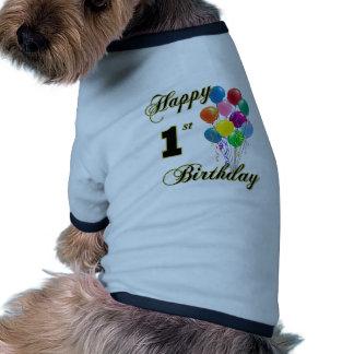 Glücklicher 1. Geburtstag Haustier Tshirts
