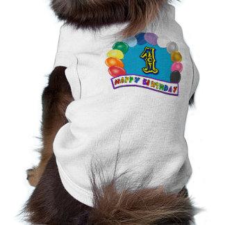Glücklicher 1. Geburtstags-Hundeshirt