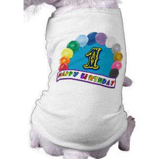 Glücklicher 1 Geburtstags-Hundeshirt