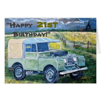 """""""Glücklicher 21. Geburtstag! """" Karte"""