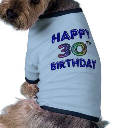 Glücklicher 30. Geburtstags-Entwurf im Ballon-Schr Haustierbekleidung