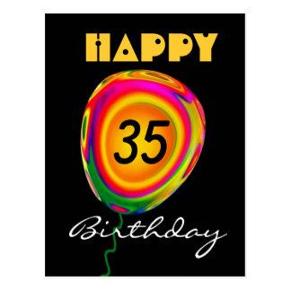Glücklicher 35 Geburtstags-bunter Postkarte