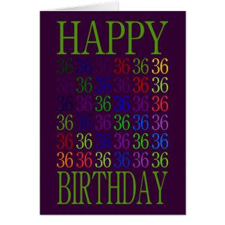 Glücklicher 36. Geburtstag Karte
