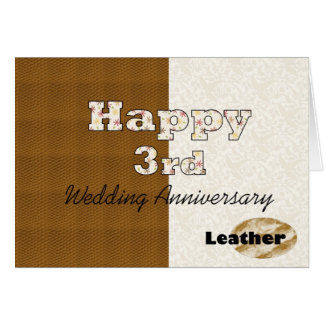 Glücklicher 3. Hochzeitstag Karte