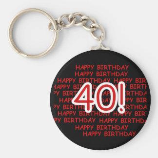 Glücklicher 40. Geburtstag Schlüsselanhänger