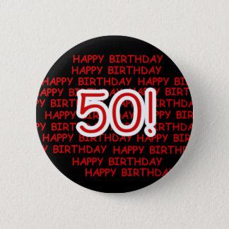Glücklicher 50. Geburtstag Runder Button 5,7 Cm