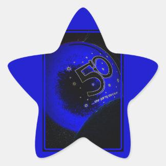 Glücklicher 50. Geburtstags-Aufkleber Stern Aufkleber