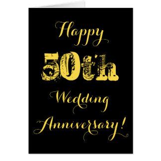 Glücklicher 50. Hochzeitstag Karte
