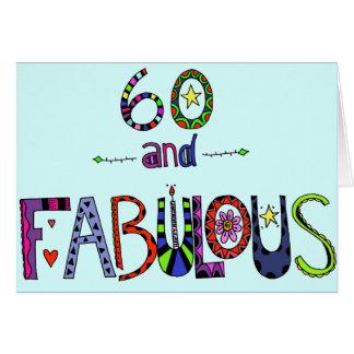 Glücklicher 60. Geburtstag - Geburtstags-Ballone Karte
