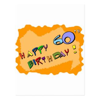 Glücklicher 60. Geburtstag! Postkarte