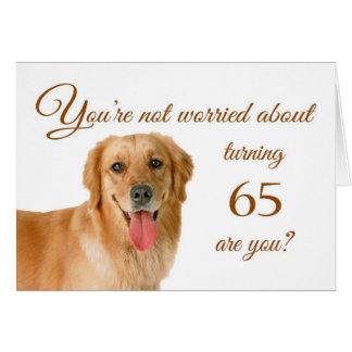 Glücklicher 65. Geburtstag, besorgter Labrador Karte