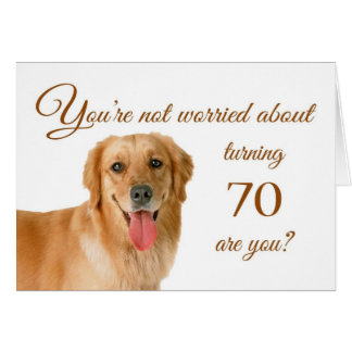 Glücklicher 70. Geburtstag, besorgter Labrador Karte
