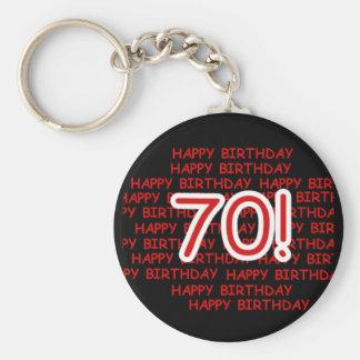 Glücklicher 70. Geburtstag Schlüsselanhänger