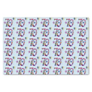 Glücklicher 70. Geburtstags-bunte Ballone Seidenpapier