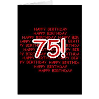 Glücklicher 75. Geburtstag Grußkarte