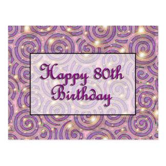 Glücklicher 80. Geburtstag Postkarte