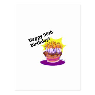 Glücklicher 90. Geburtstag! Postkarte