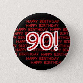 Glücklicher 90. Geburtstag Runder Button 5,1 Cm