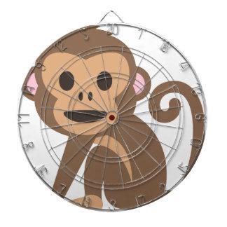 Glücklicher Affe-Cartoon Dartscheibe