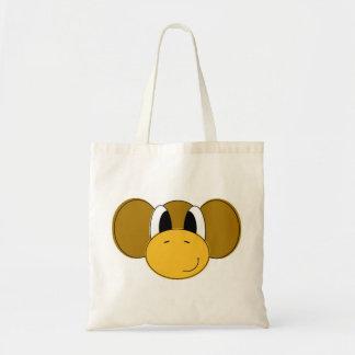 glücklicher Affe Leinentasche