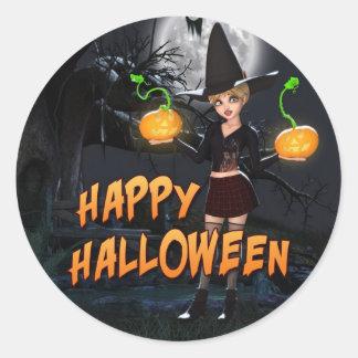 Glücklicher Aufkleber Halloweens Skye