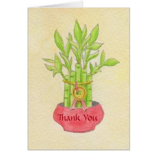 Glücklicher Bambus danken Ihnen zu kardieren Karte