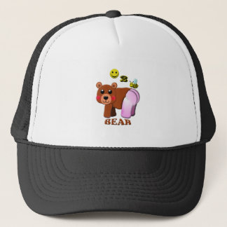 glücklicher Bär mit 2 Bienen Truckerkappe